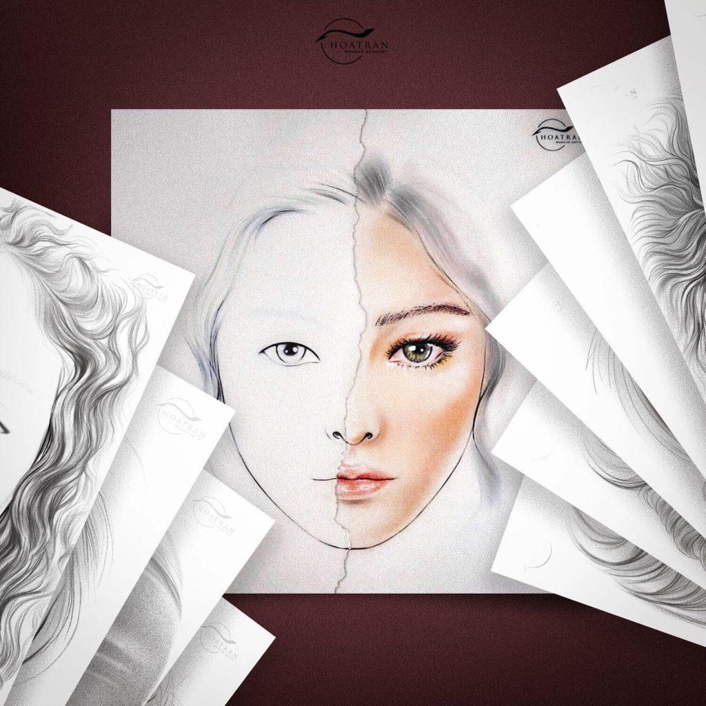 Khoá học vẽ Facechart - HoaTranMakeup
