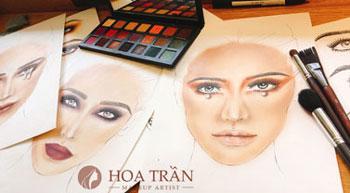 Khoá học vẽ Face Charts hoatranmakeup.com