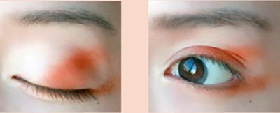 Sử dụng phấn mắt màu sáng để che quầng thâm cho mắt (ảnh minh họa)